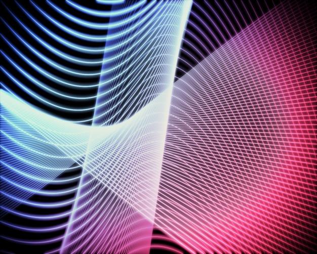 Voluta de linhas azul e rosa