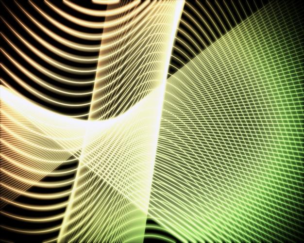 Voluta de linhas verdes e amarelas