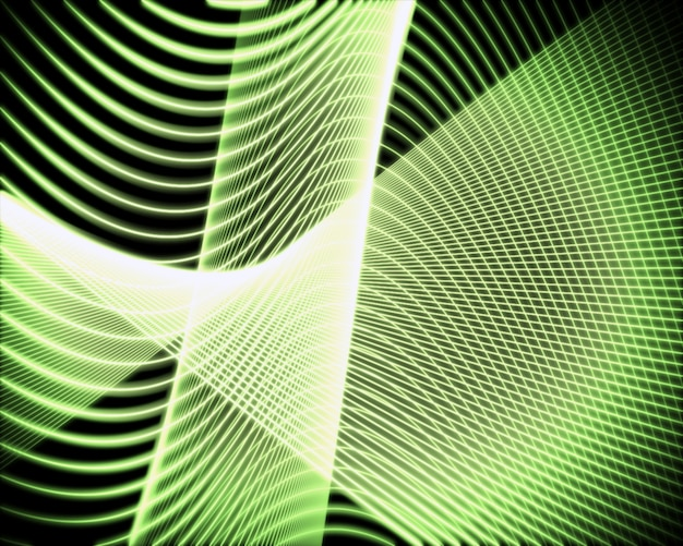 Voluta de linhas verdes