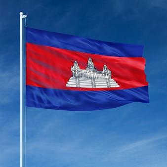 Vôo da bandeira do camboja