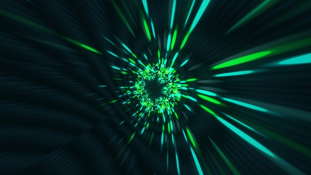 Vortex hiperespaço túnel wormhole tempo e espaço, dobra ficção científica fundo 3d