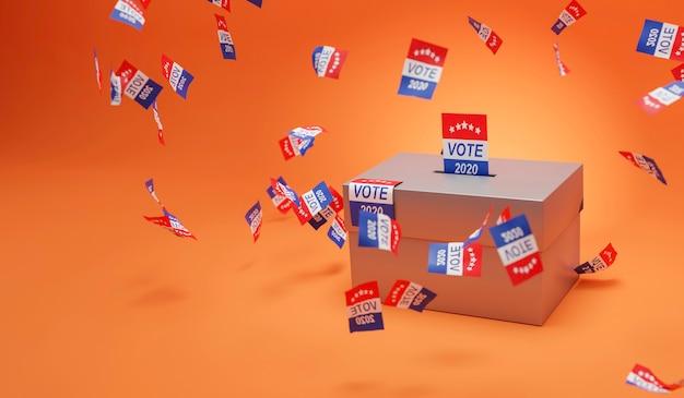 Votação na urna presidencial dos estados unidos da américa