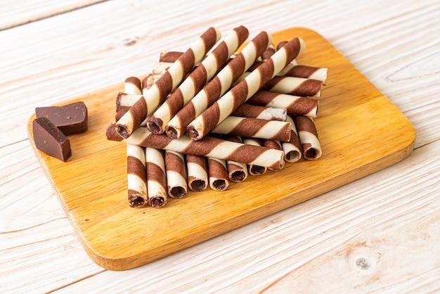 Wafers de chocolate stick roll