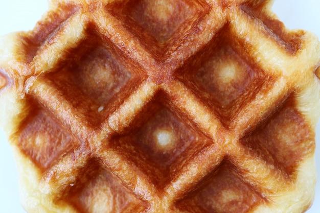 Waffle belga cozido fresco