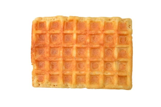 Waffle belga isolado na superfície branca.
