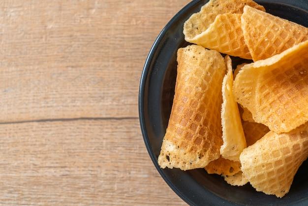 Waffle crocante de manteiga e leite