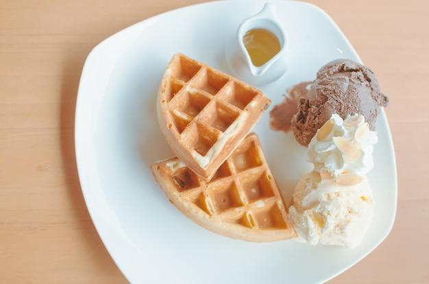 Waffle de sobremesa