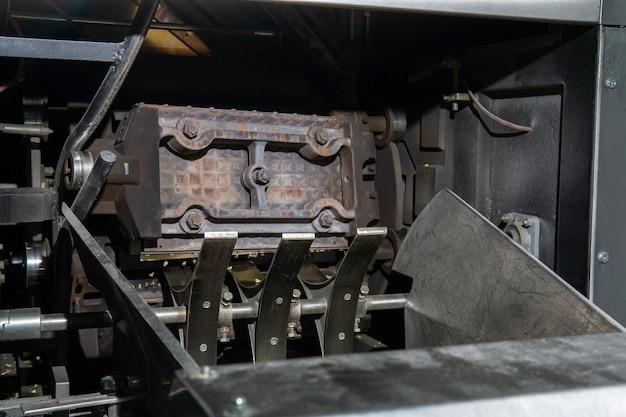 Waffle industrial de ferro assa folha de waffle