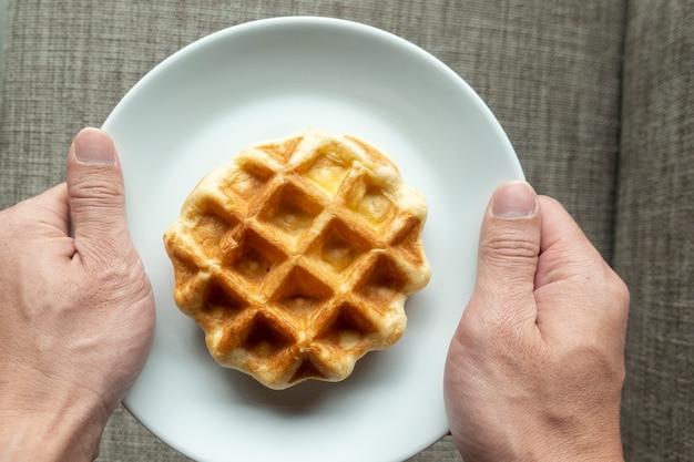 Waffle no prato