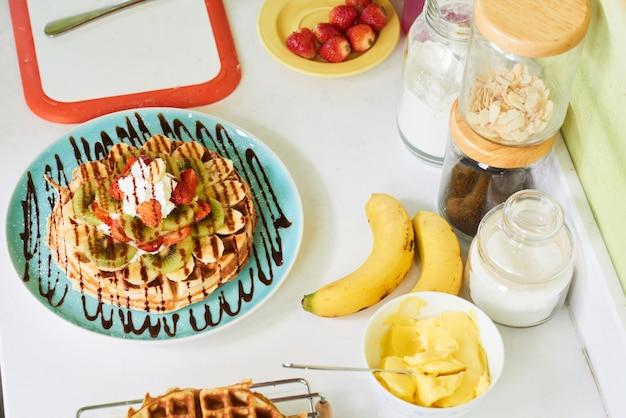 Waffle pronto para servir