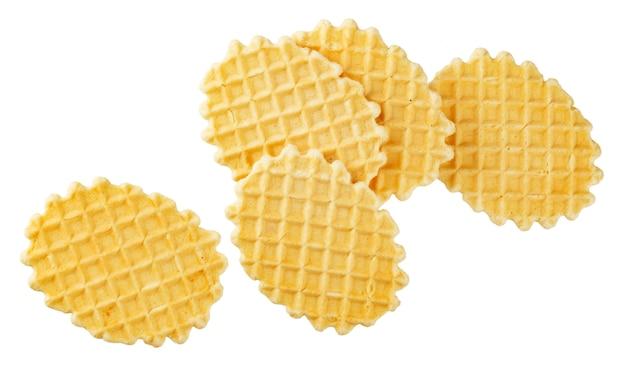 Waffles belgas na superfície branca