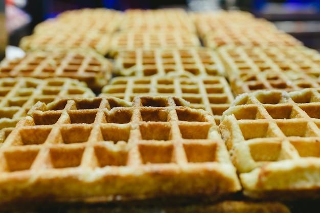Waffles belgas sem coberturas