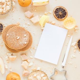 Waffles e papel