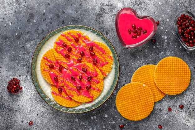 Waffles holandeses deliciosos.