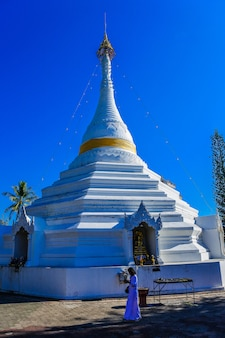 Wat phra que doi kong mu, templo em mae hong son, tailândia