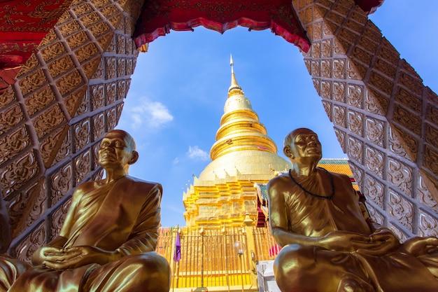 Wat phra que hariphunchai, província de lamphun, tailândia