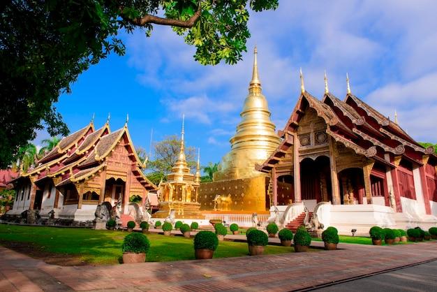 Wat phra sing e templo budista, província de chiang mai, tailândia