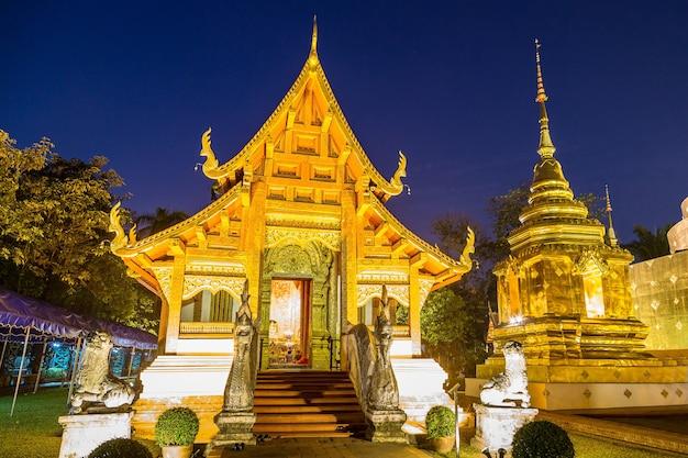 Wat phra singh - templo budista em chiang mai, tailândia