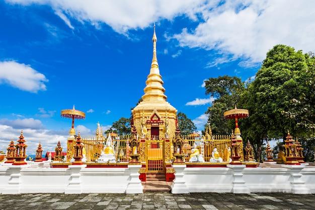 Wat phra that wai dao (templo do escorpião negro) em mae sai, tailândia
