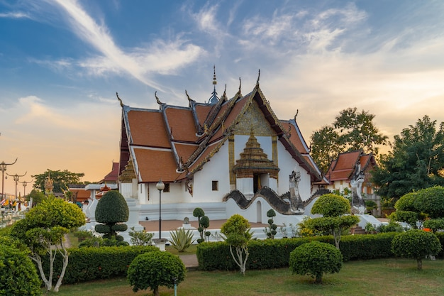 Wat phumin é um templo famoso na província de nan, na tailândia.