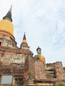 Wat yai chai mongkol ayuttaya da tailândia