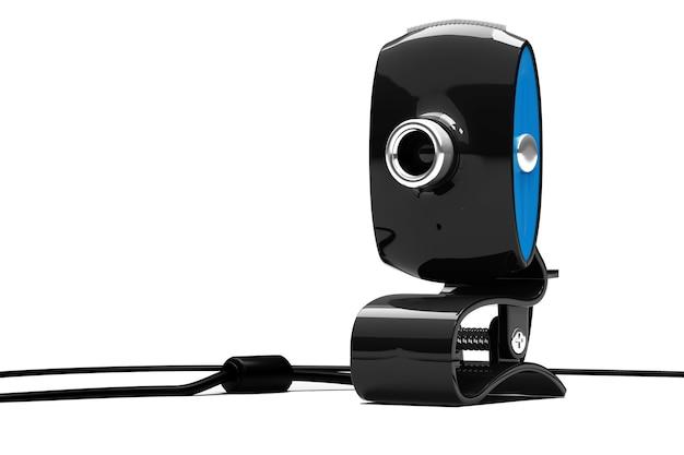 Webcam em fundo branco