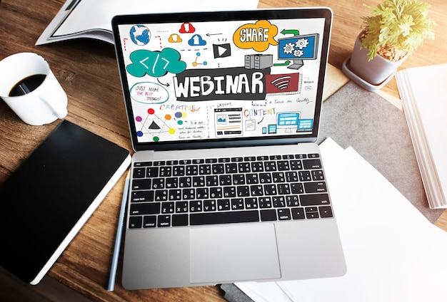 Webinar innovation web design technology concept