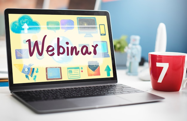 Webinar site online internet netwotking concept