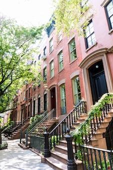West village, em nova york edifícios de manhattan