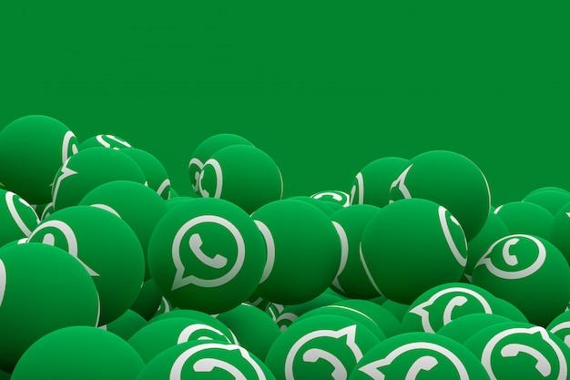 Whatsapp emoji renderização em 3d