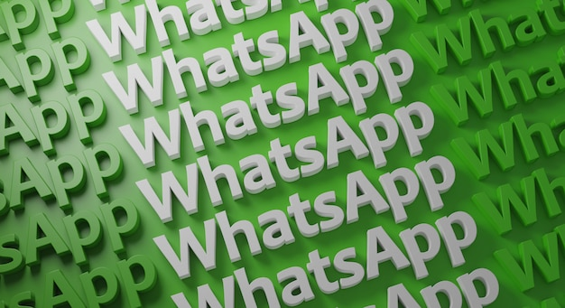 Whatsapp várias tipografia na parede verde