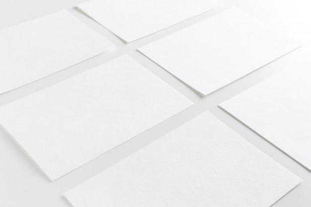 White paper cartões de visita em linha