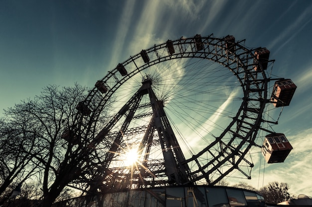 Wiener riesenrad, famosa roda gigante em wien