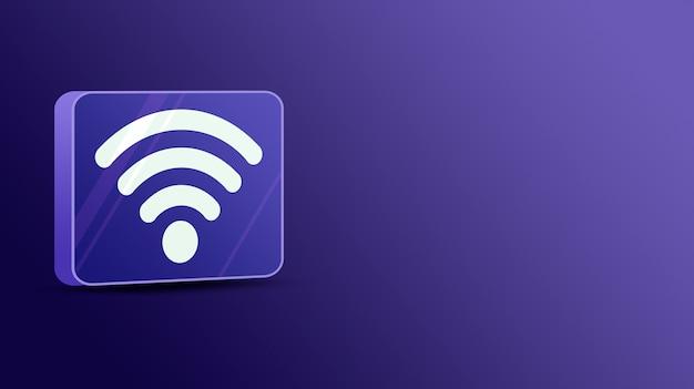 Wifi em plataforma de vidro 3d
