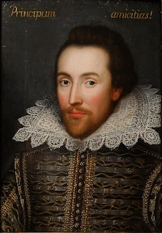 William retrato poeta, escritor shakespeare pintura