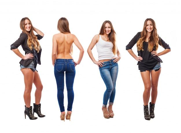 Womans com diferentes roupas