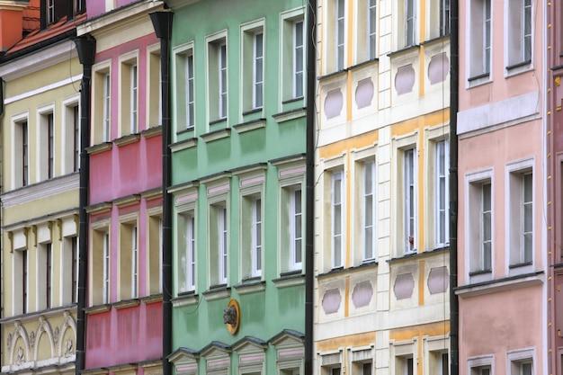 Wroclaw - casas frontais multicoloridas