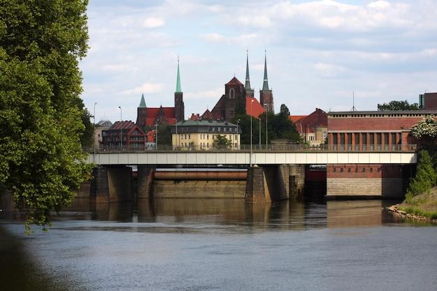Wroclaw - vista em uma cidade