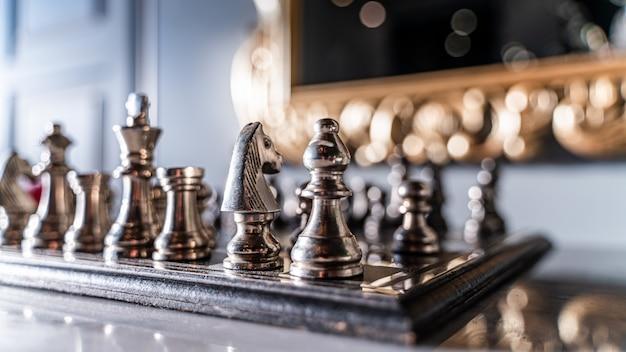 Xadrez e xadrez jogo vencedor