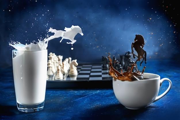 Xadrez. estreia de dois cavalos