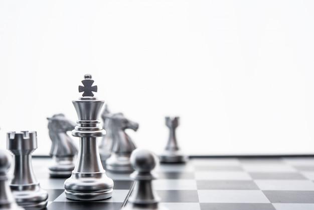 Xadrez, jogo de tabuleiro, conceito, de, idéias negócio, e, competição, e, estratagia, planejar, sucesso, significado