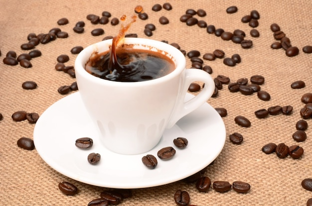 Xícara de café closeup