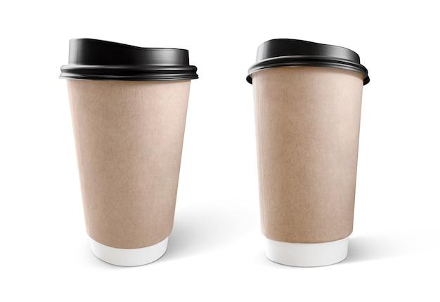 Xícara de café de papel kraft marrom