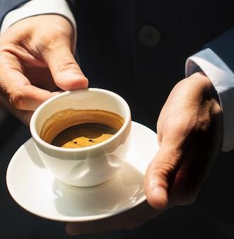 Xícara de café de perto