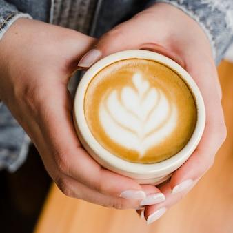 Xícara de café em close-up