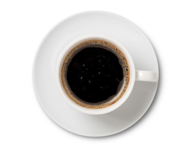 Xícara de café em xícara de cerâmica isolada
