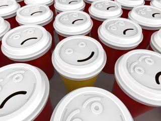 Xícara de café feliz