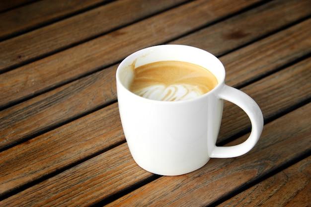 Xícara de café latte
