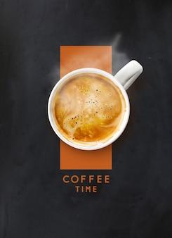 Xícara de café na hora do café