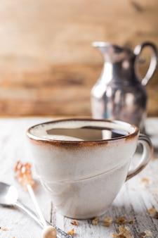 Xícara de café no café da manhã